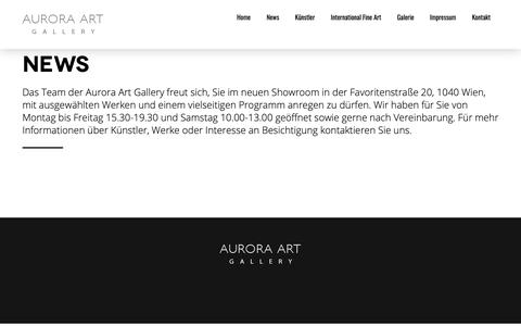 Screenshot of Press Page aurora-art-gallery.com - News - Aurora Art Gallery - captured Dec. 9, 2018