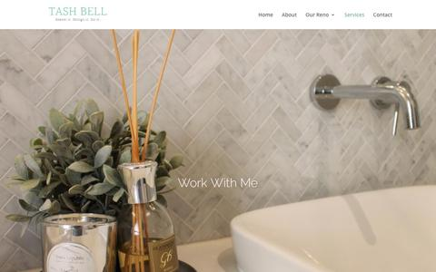 Screenshot of Services Page tashbell.com - Work with me | Tash Bell Home - captured Jan. 30, 2018