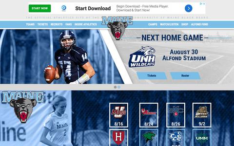 Screenshot of Home Page goblackbears.com - University of Maine Athletics - captured June 30, 2018