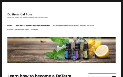 Do Essential Pure  – Everything you will ever need to know about my Doterra business