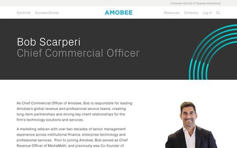 Screenshot of Team Page amobee.com - Bob Scarperi — Amobee - captured Nov. 18, 2019