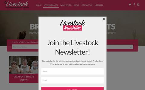 Screenshot of Case Studies Page livestockproductions.co.uk - Livestock Productions, Inspired Entertainment and Events | Livestock - captured July 21, 2018