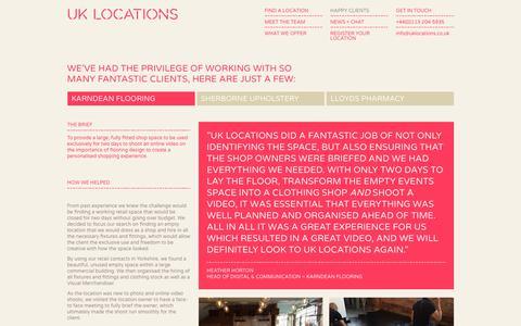 Screenshot of Case Studies Page uklocations.co.uk - Karndean Flooring   UK Locations - captured Nov. 5, 2018