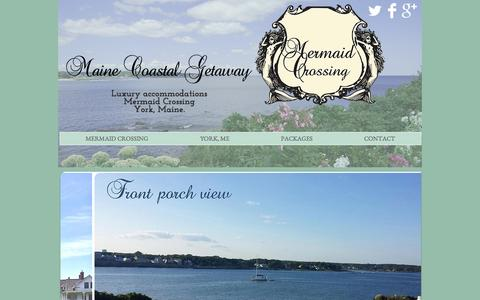 Screenshot of Home Page mainecoastalgetaway.com - York Maine Vacation Rental - captured Sept. 30, 2014