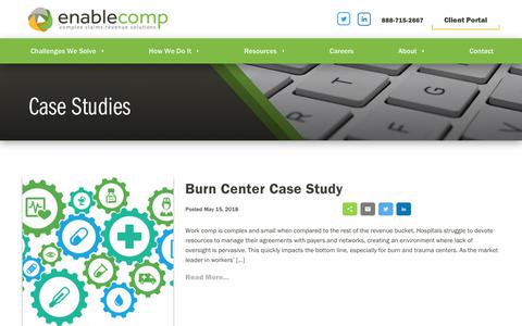 Screenshot of Case Studies Page enablecomp.com - Case Studies Archives - EnableComp - captured Jan. 11, 2019
