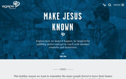Screenshot of Home Page agapeeurope.org - Home | Agape Europe - captured Dec. 24, 2015