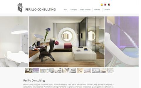 Screenshot of Home Page perilloconsulting.com - Perillo Consulting - captured Sept. 29, 2014