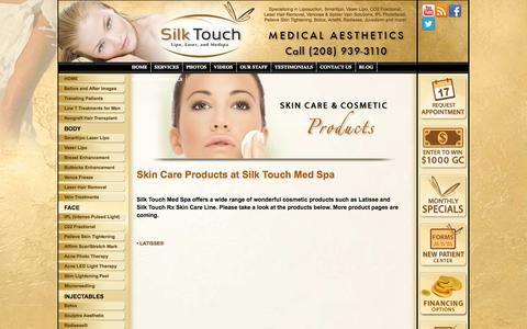 Screenshot of Products Page silktouchmedspa.com - Skin Care Products at Silk Touch Med Spa | Boise - captured Oct. 26, 2014