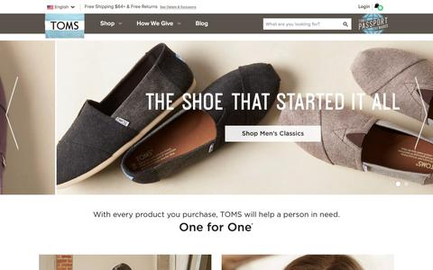 TOMS® Official Site | The One for One® Company