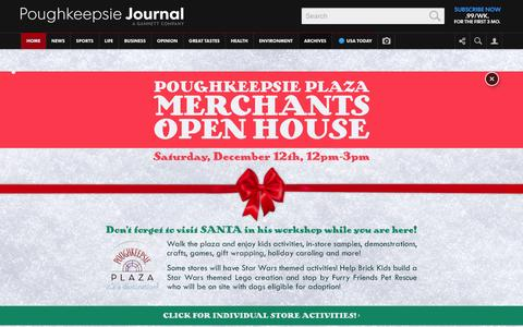 Screenshot of Home Page poughkeepsiejournal.com - The Poughkeepsie Journal - captured Dec. 10, 2015