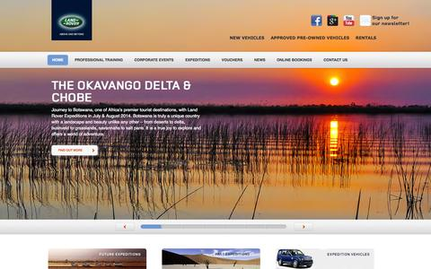 Screenshot of Home Page landroverexperience.co.za - Land Rover Experience | Home - captured Oct. 1, 2014