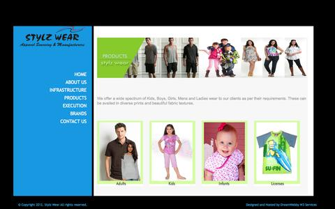 Screenshot of Products Page stylzwear.com - Stylzwear - captured Sept. 26, 2014
