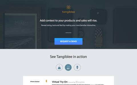 Screenshot of Home Page yruler.com - Visual Try Out for Handbags, Wallets, and Accessories | Tangiblee - captured Sept. 19, 2014