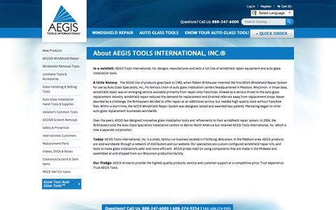 Screenshot of About Page aegistools.com - About Us - captured Nov. 19, 2016