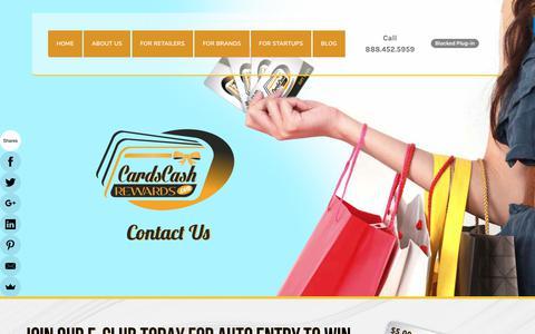 Screenshot of Contact Page cardscashrewards.com - Contact Us  - CardsCashRewards.com - captured July 14, 2017