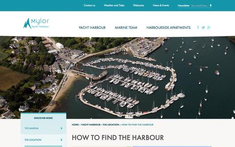 Screenshot of Maps & Directions Page mylor.com - Directions for how to find Mylor harbour by car or by sea - captured Oct. 9, 2014