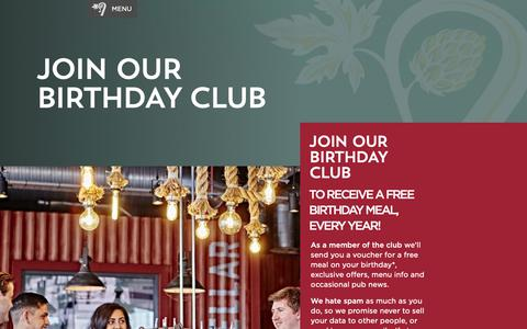 Screenshot of Signup Page shepherdneame.co.uk - Join our Birthday Club - captured Oct. 20, 2018