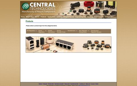 Screenshot of Products Page ctparts.com - Products - captured Oct. 2, 2014