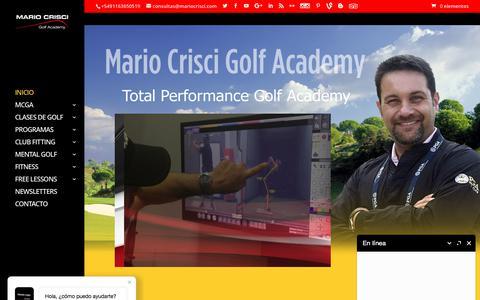Screenshot of Home Page mariocrisci.com - INICIO MCGA - captured Oct. 5, 2017