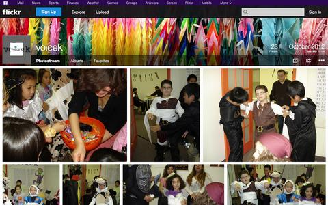 Screenshot of Flickr Page flickr.com - Flickr: voicek's Photostream - captured Oct. 26, 2014