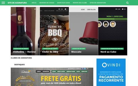 Screenshot of Home Page sitedeassinatura.com - Sites de Assinaturas e Clubes de assinatura - captured Jan. 20, 2016