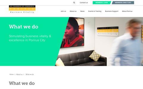 Screenshot of About Page poriruachamber.co.nz - Porirua Chamber of Commerce - captured Nov. 9, 2016