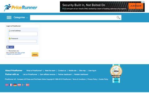 Screenshot of Login Page pricerunner.co.uk - Compare Prices and Find Best Deals Online - PriceRunner UK - captured Dec. 10, 2015