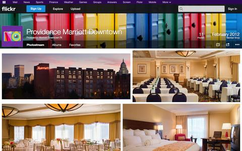 Screenshot of Flickr Page flickr.com - Flickr: Providence Marriott Downtown RI's Photostream - captured Oct. 23, 2014