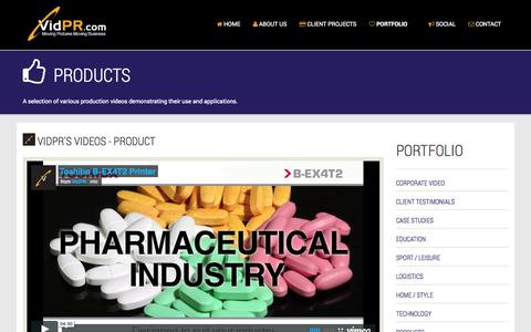 Screenshot of Products Page vidpr.com - VidPR Product Demo Videos by VidPR - captured Oct. 7, 2014