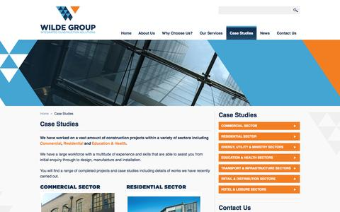 Screenshot of Case Studies Page thewildegroup.co.uk - Case Studies - The Wilde Group Ltd - captured Oct. 9, 2014