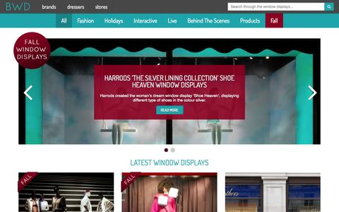 Screenshot of Home Page thebwd.com - Best Window Displays - Creative and Inspirational Window Displays - captured Oct. 5, 2014