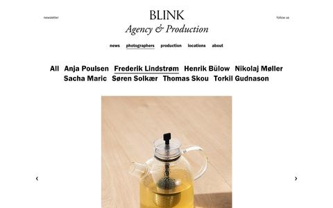 Screenshot of Menu Page blinkproduction.com - Menu  Đ Blink Production - captured Jan. 6, 2016