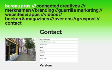 Screenshot of Contact Page bureaugras.nl - Contact - captured Sept. 30, 2014