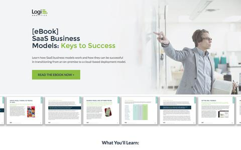 Screenshot of Landing Page logianalytics.com - SaaS Business Models for App Success Ebook | Logi Analytics - captured July 22, 2016