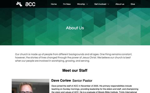 Screenshot of About Page acchurch.org - ACC | Our Leadership - captured Oct. 4, 2018