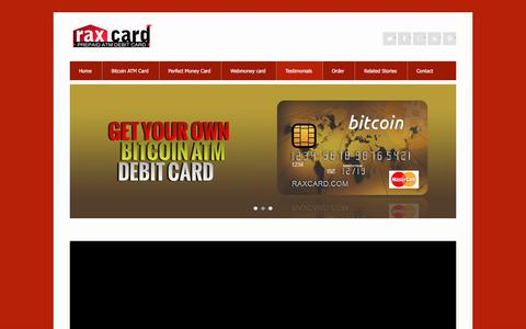 Screenshot of Testimonials Page raxcard.com - Testimonial | Coinbase Bitcoin Card Blockchain Bitcoins Card - captured Jan. 30, 2018