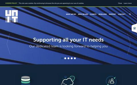 Screenshot of Home Page unit-it.co - Unit - captured Sept. 30, 2014