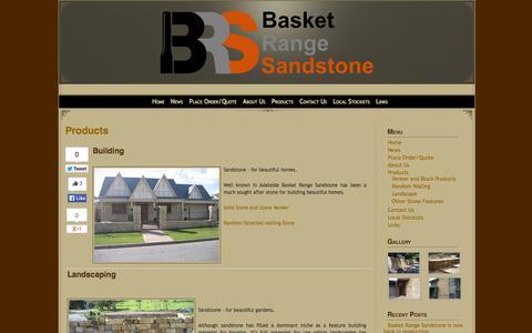 Screenshot of Products Page basketrangesandstone.com.au - Basket Range Sandstone>Products » Basket Range Sandstone> - captured Sept. 30, 2014