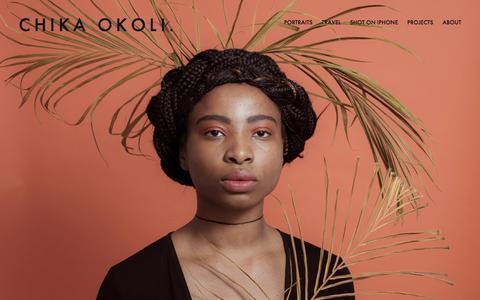Screenshot of Home Page chikaokoli.com - Chika Okoli. - captured Nov. 25, 2016