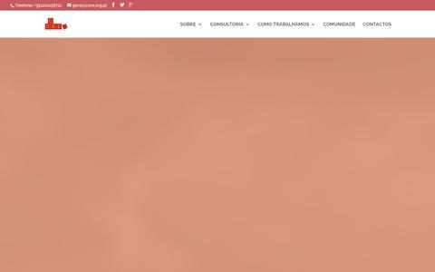 Screenshot of Home Page core.org.pt - CORE | Consultoria em Responsabilidade Social - captured Jan. 23, 2016