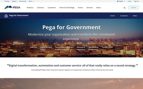 Government Solutions for Today's Software Challenges | Pega