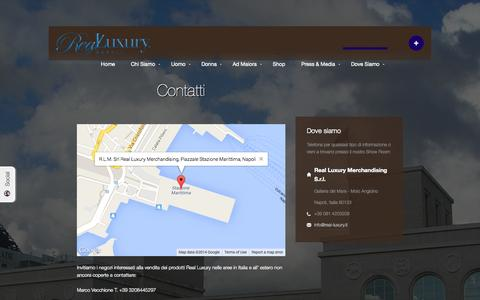Screenshot of Contact Page real-luxury.it - Contatti - Real Luxury - captured Oct. 7, 2014