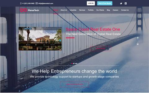Screenshot of Home Page plenartech.com - Plenar Technologies | Innovation Simplified - Solutions for Businesses & Entrepreneurs - captured Sept. 18, 2015