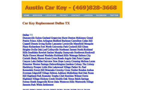Screenshot of Locations Page dallascarkey.com - Car Key Replacement | (469)828-3668 | Dallas Texas - captured Nov. 3, 2014