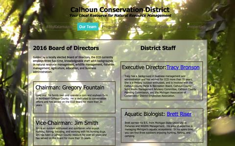 Screenshot of Team Page calhouncd.org - calhouncd | Our Team - captured Oct. 16, 2016