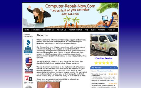Screenshot of About Page computer-repair-now.com - About Us at Computer-Repair-Now.Com - captured Sept. 29, 2018
