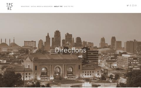 Screenshot of Maps & Directions Page tpckc.com - Directions — Turning Point Church - captured Oct. 24, 2017