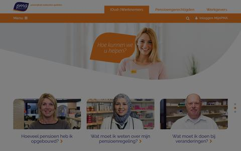 Screenshot of Home Page pma-pensioenen.nl - PMA - captured March 3, 2018