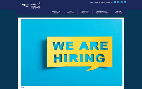 Screenshot of Jobs Page kuwaitairways.com - Kuwait Airways - captured Oct. 16, 2018