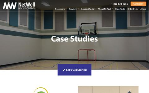 Screenshot of Case Studies Page controlnoise.com - Case Studies | NetWell - captured Sept. 23, 2018